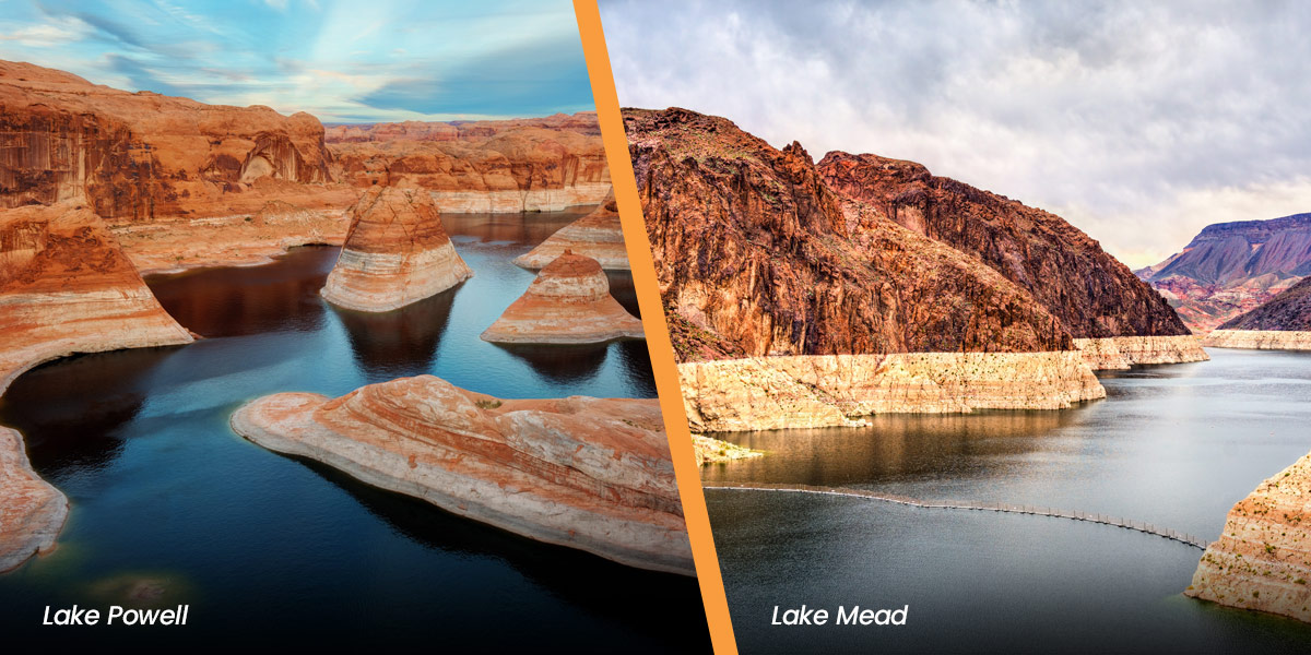 Lake Powell and Lake Mead