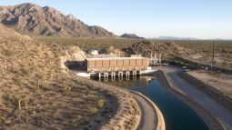 Picacho Pumping Plant May 23, 2017 drone aerial Central Arizona Project photo by Philip A. Fortnam