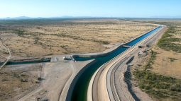 Canal and Santa Rosa Turnout - drone aerial October 2, 2019 Central Arizona Project photo by Philip A. Fortnam